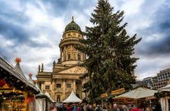 圣诞节市场在柏林,德国 免版税库存图片