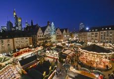 圣诞节市场在法兰克福,德国 免版税库存照片