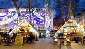 圣诞节市场在瓦尔纳 免版税库存图片