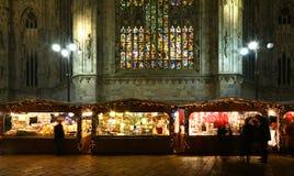 圣诞节市场在米兰 免版税库存照片