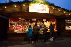 圣诞节市场在维也纳,奥地利 库存照片