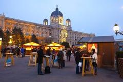 圣诞节市场在维也纳,奥地利 库存图片