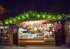 圣诞节市场在维也纳 免版税库存照片