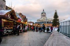 圣诞节市场在老中央集市广场 免版税库存照片