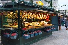 圣诞节市场在萨尔茨堡,奥地利 免版税库存照片