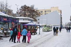 圣诞节市场在里加 图库摄影