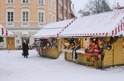 圣诞节市场在里加 免版税库存照片