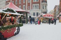 圣诞节市场在里加 库存照片