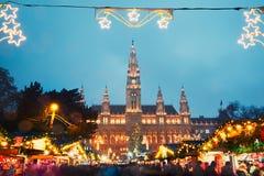 圣诞节市场在维也纳 库存图片