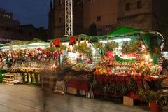 圣诞节市场在巴塞罗那,西班牙 库存照片