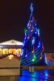圣诞节市场在维尔纽斯的历史的中心, 免版税库存图片