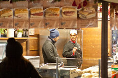 圣诞节市场在维罗纳2015年 免版税库存照片