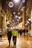 圣诞节市场在维罗纳2015年 库存照片