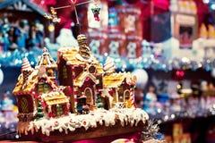 圣诞节市场在巴黎 库存照片