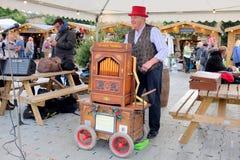 圣诞节市场娱乐 免版税库存照片