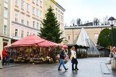 圣诞节市场摊位在萨尔茨堡,奥地利 免版税库存照片