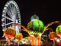 圣诞节市场海德公园伦敦英国 免版税库存图片