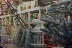 圣诞节市场的一个小的细节在街道的 免版税库存图片