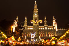 圣诞节市场维也纳 免版税库存图片
