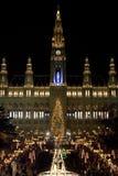 圣诞节市场维也纳 库存图片