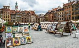 圣诞节市场美人鱼正方形符号结构树华沙 免版税库存图片