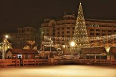 圣诞节市场,布加勒斯特 免版税图库摄影