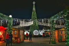 圣诞节市场,布加勒斯特 图库摄影