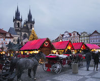 圣诞节市场,布拉格 免版税库存图片