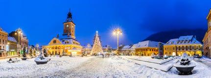 圣诞节市场,布拉索夫,罗马尼亚 免版税库存照片