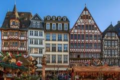 圣诞节市场,法兰克福 免版税库存照片