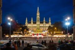 圣诞节市场,维也纳,奥地利 免版税库存图片