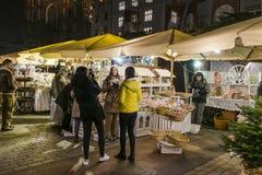 圣诞节市场, 2016年11月 免版税图库摄影