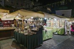 圣诞节市场, 2016年11月 免版税库存照片