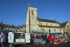 圣诞节市场-约克夏-英国 免版税图库摄影