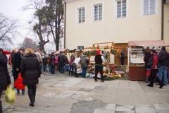 圣诞节市场2014年 免版税库存照片
