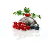 圣诞节布丁 免版税库存照片