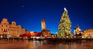 圣诞节布拉格时间 免版税库存图片
