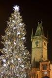 圣诞节布拉格结构树 库存照片