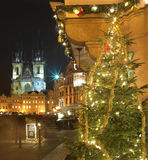 圣诞节布拉格 免版税库存图片