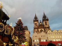 圣诞节布拉格 图库摄影