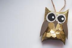 圣诞节布料装饰木偶结构树 免版税库存图片