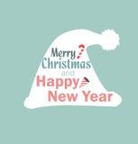 圣诞节帽子传染媒介新年 向量例证