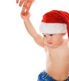 圣诞节帽子小孩 免版税图库摄影