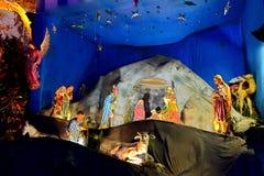 圣诞节庆祝在加尔各答 免版税库存图片