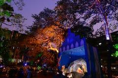 圣诞节庆祝在加尔各答 免版税图库摄影