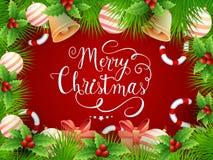 圣诞节庆祝的典雅的贺卡 向量例证