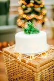 圣诞节庆祝的开胃蛋糕 库存图片