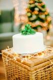 圣诞节庆祝的开胃蛋糕 库存照片