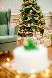 圣诞节庆祝的开胃蛋糕 免版税库存图片