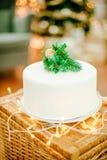 圣诞节庆祝的开胃蛋糕 免版税图库摄影
